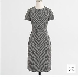 J. Crew Matrix jacquard dress